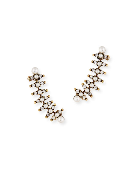 Auden Bronson Pearly Climber Earrings