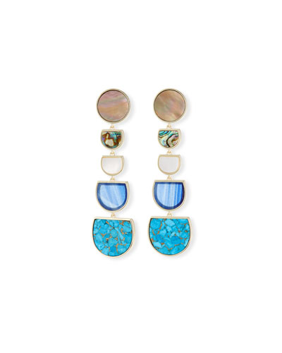 Jackman Stone Tiered Drop Clip-On Earrings
