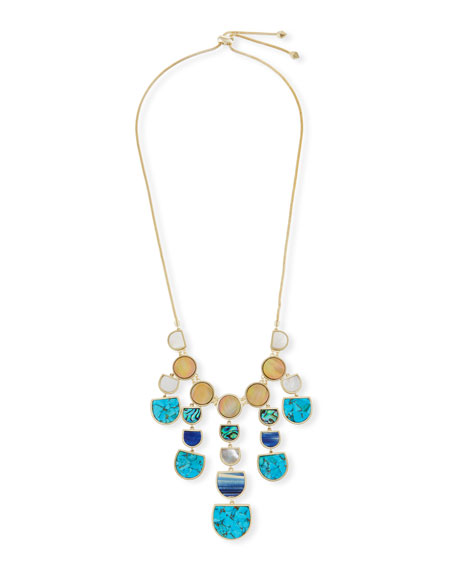 Kendra Scott Corbin Mixed Stone Bib Statement Necklace