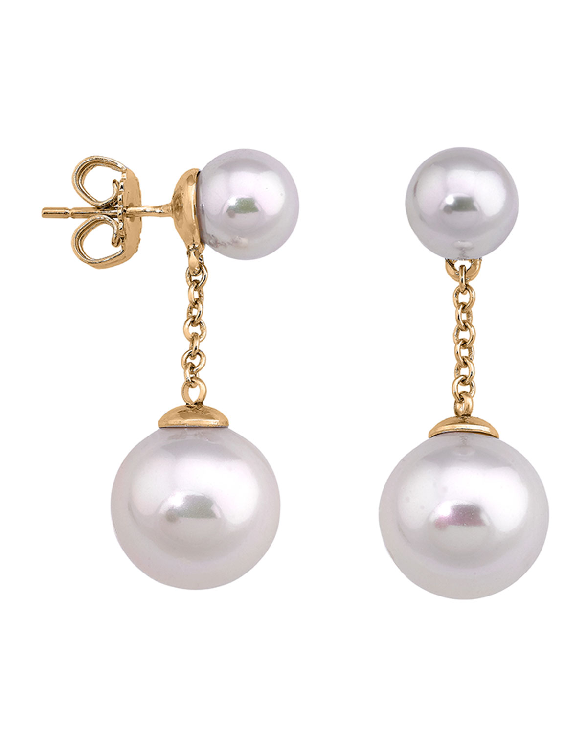 Majorica Simulated Pearl Chain Drop Earrings Neiman Marcus