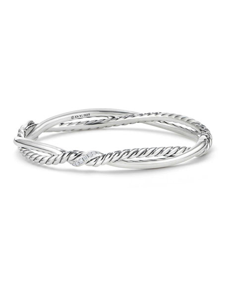David Yurman Continuance Diamond Twist Bracelet