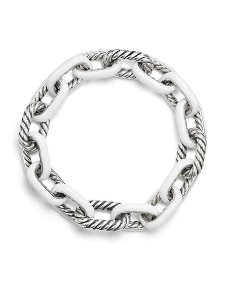 Madison® Enamel/Silver Chain Bracelet