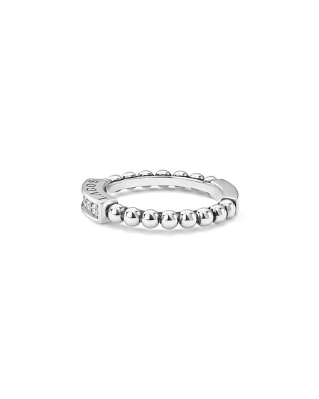 LAGOS Caviar Spark Diamond Station Stack Ring