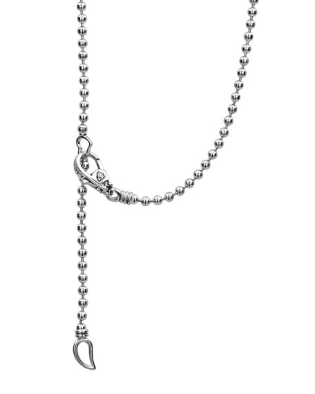 Caviar Spark Diamond Ball-Chain Necklace