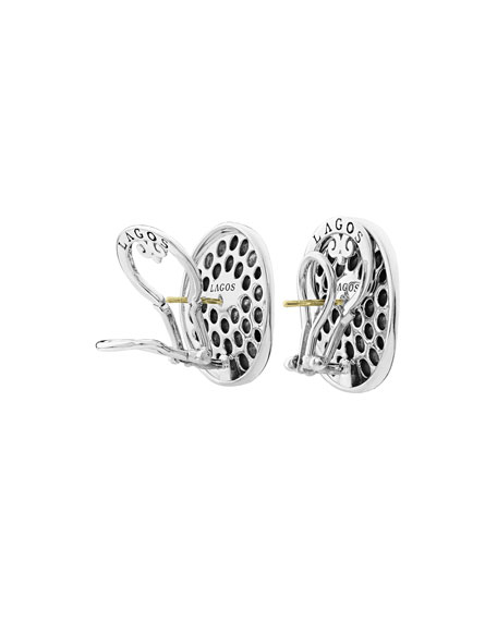 LAGOS Bold Caviar 25mm Button Earrings