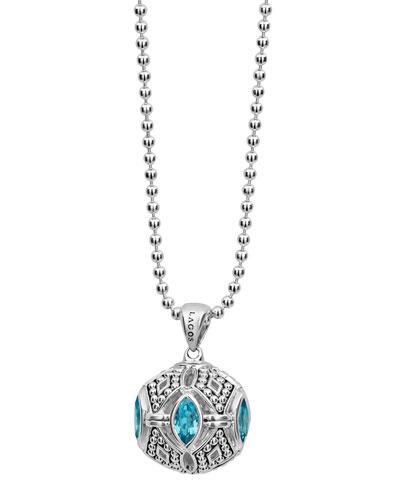 Caviar™ Talisman Marquise Ball Pendant Necklace, 34