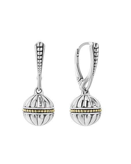 18k Caviar Talisman Beaded Ball Drop Earrings