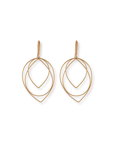 14k Medium Three-Tiered Hoop Earrings