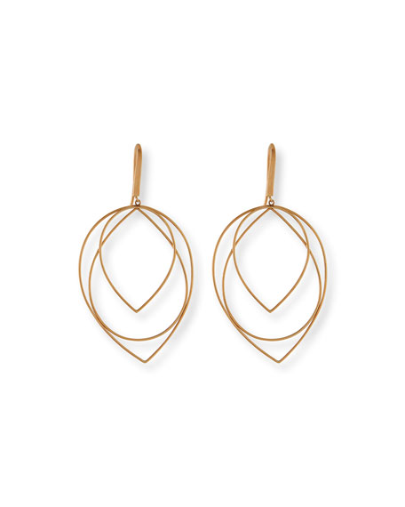 Lana 14k Medium Three-Tiered Hoop Earrings
