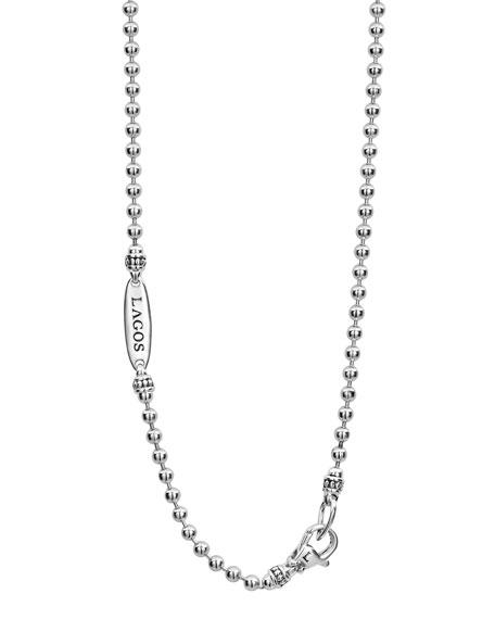 "Caviar Talisman Woven Knot Necklace, 34"""