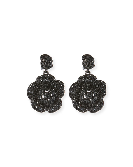 Oscar De La Renta Gardenia Pavé Swarovski Crystal Ring TpUiS