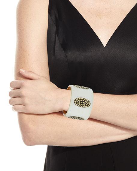 Dot XL Silver & Gold Buffalo Horn Cuff Bracelet