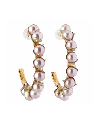 Delfina Hoop Earrings w/ Swarovski Pearls