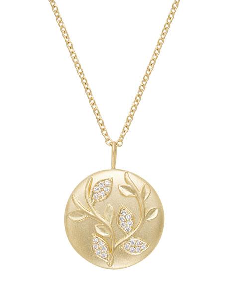 Jamie Wolf 18k Diamond Ivy Vine Pendant Necklace