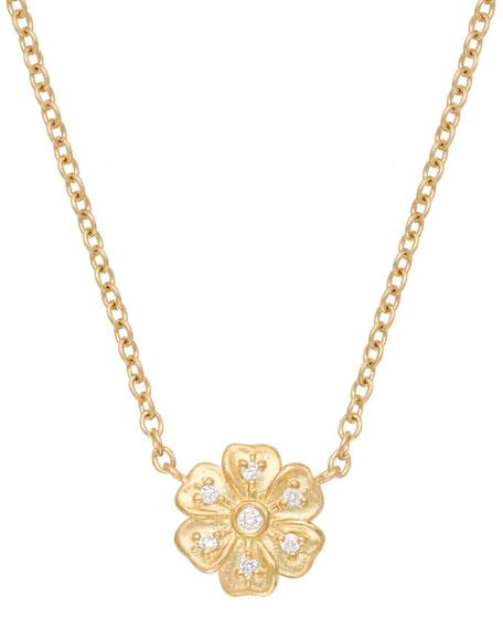 Jamie Wolf 18k Diamond Lilac Pendant Necklace