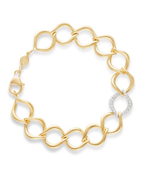 Jamie Wolf 18k Aladdin Chain-Link Bracelet w/ Diamond Link