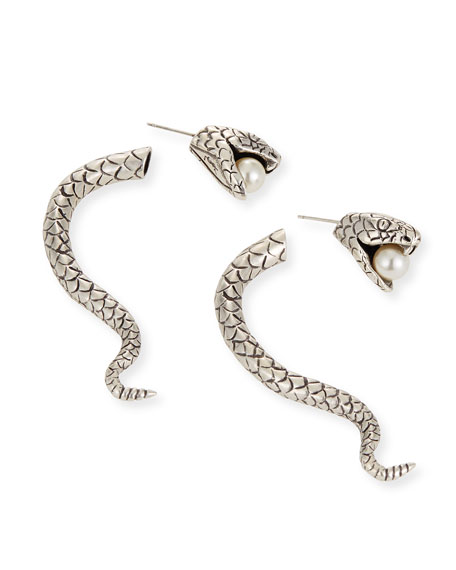 Marrakech Perle Serpent Earrings