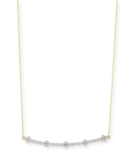 Jude Frances 18k Provence Diamond Curved Bar Necklace