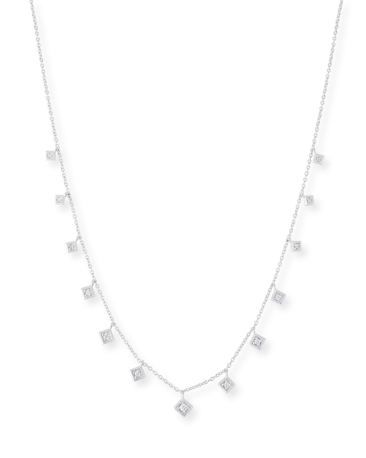 Texas Tech Classic Elegance Ladies Ring: Jude Frances 18k Lisse Dancing Diamond Necklace