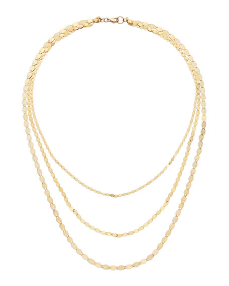 LANA 14k Triple Nude Chain Necklace