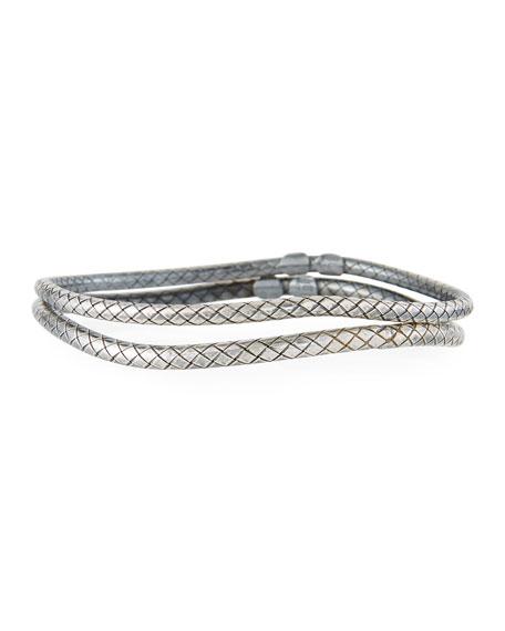 Skinny Bangle Bracelet Pair