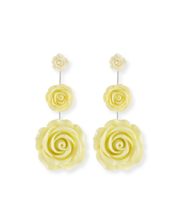 Dannijo Beck Triple Flower Drop Earrings sDPzqt0WX