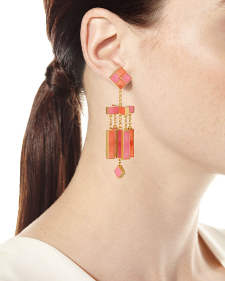 Epoxy Mobile Chandelier Earrings