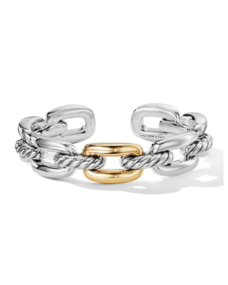 David Yurman Wellesley Link Single-Stack Bracelet w/ 18k Gold