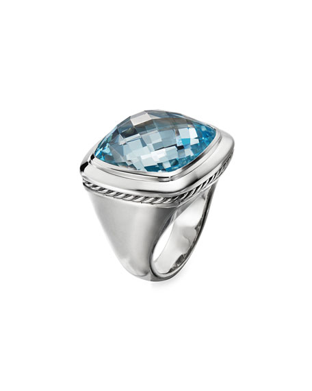 David Yurman Albion Blue Topaz Statement Ring