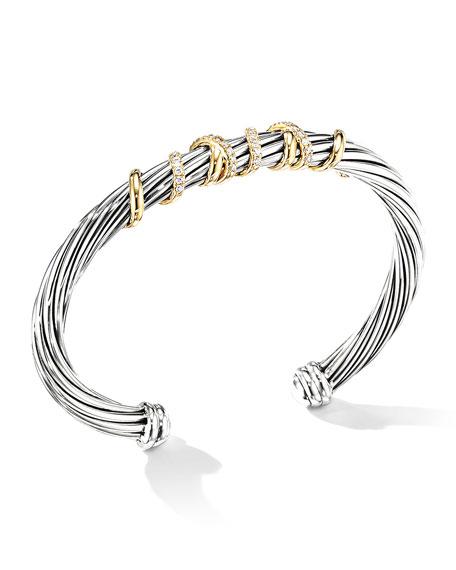 David Yurman Helena Diamond Wrapped Bracelet