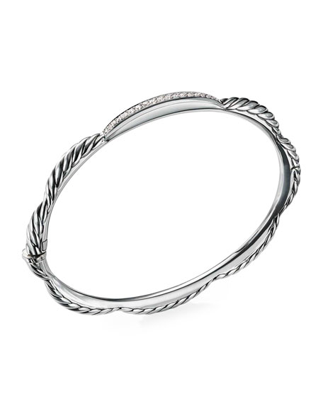 David Yurman Tides Diamond & Cable Single-Row Bracelet
