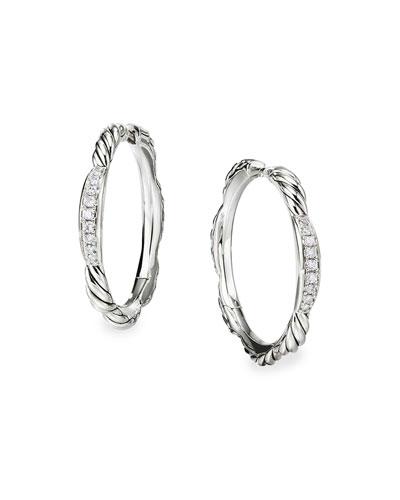 Tides Diamond & Cable Hoop Earrings