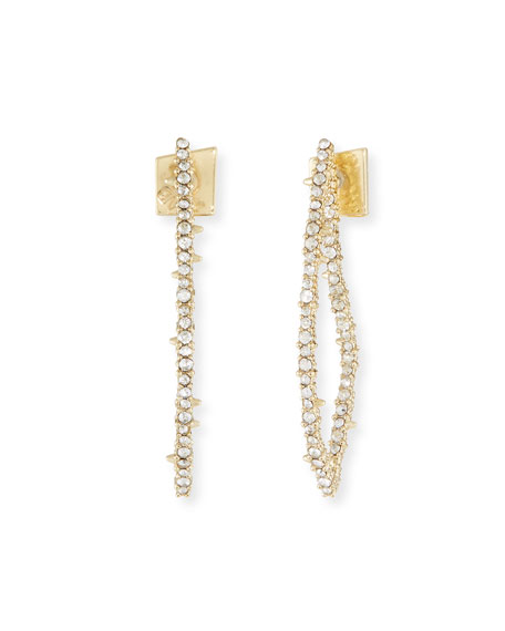 Crystal Abstract Thorn Earrings by Alexis Bittar