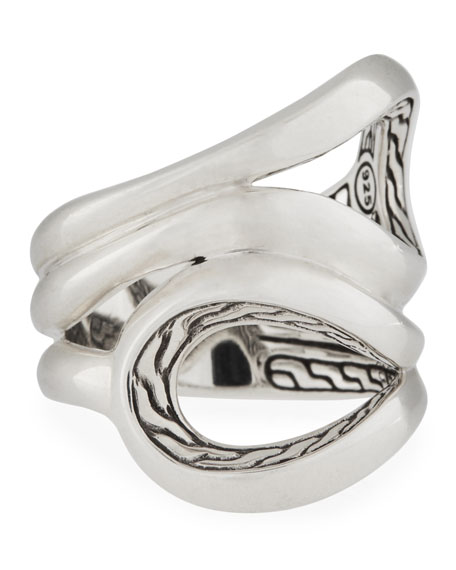 John Hardy Classic Chain Sterling Silver Ring, Size