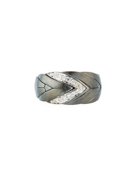 John Hardy Modern Chain Medium Diamond Ring