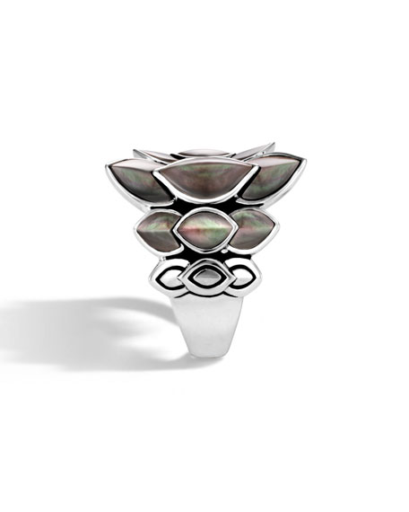 Image 2 of 3: John Hardy Legends Naga 21mm Saddle Ring w/ Mother-of-Pearl
