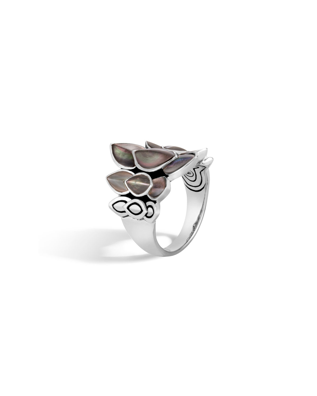 John Hardy Legends Naga 21mm Saddle Ring w/ Mother-of-Pearl