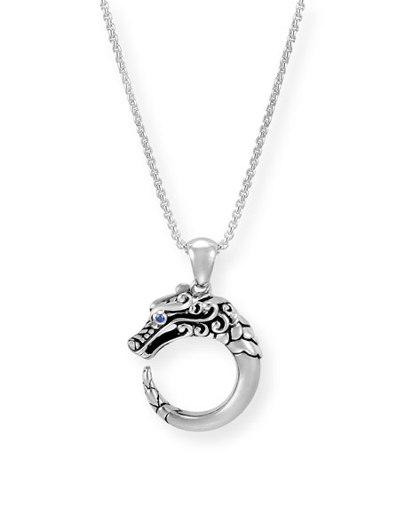 John Hardy Legends Naga Silver Dragon Pendant Necklace