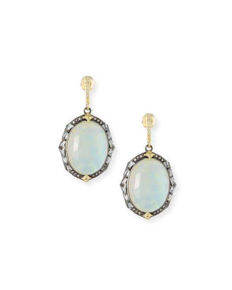Armenta Old World Triplet Oval Drop Earrings