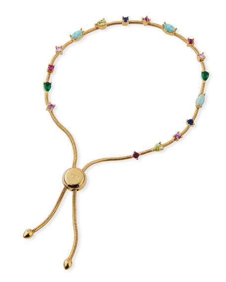 Tai Small Rainbow Cubic Zirconia Slider Bracelet