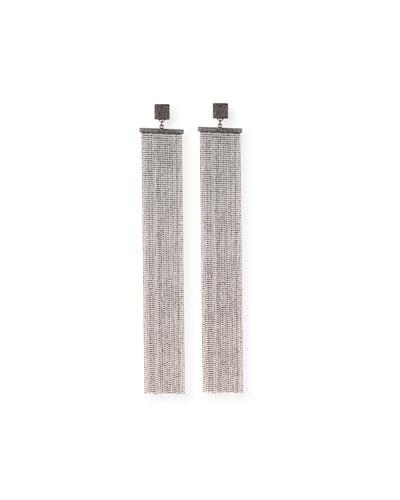 Silver Monili Shoulder-Duster Earring