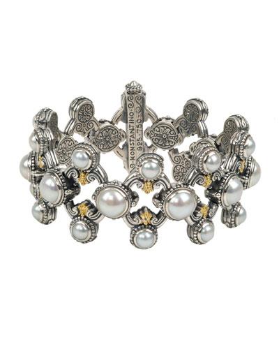 Thalia Multi-Pearl Open Bracelet