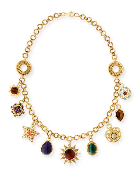 Jose & Maria Barrera Celestial Charm Necklace w/ Mixed Stones