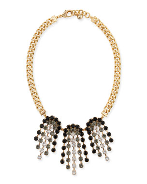 f0223f37c1daf1 Lulu Frost Crystal Ombre Statement Necklace