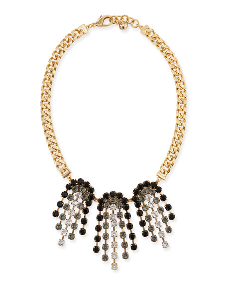 Lulu Frost Crystal Ombre Statement Necklace