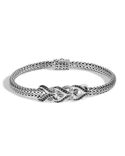 Classic Chain Black Spinel & Sapphire Link Bracelet