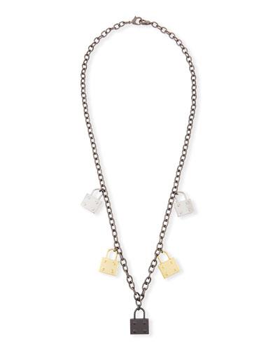 Elle Multi-Lock Pendant Necklace