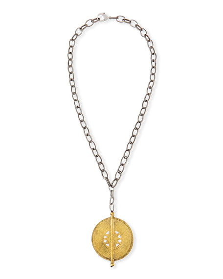 Claudia Medallion Pendant Necklace