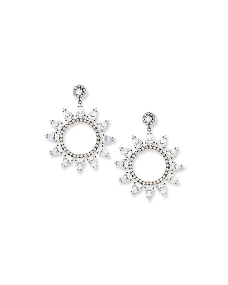 Kenneth Jay Lane Crystal Circle Drop Earrings