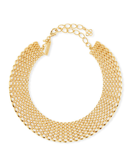 Oscar de la Renta Linked Chain Choker Necklace